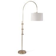 Regina Andrew Lighting Arc Floor Lamp With Fabric Shade - Natural Brass