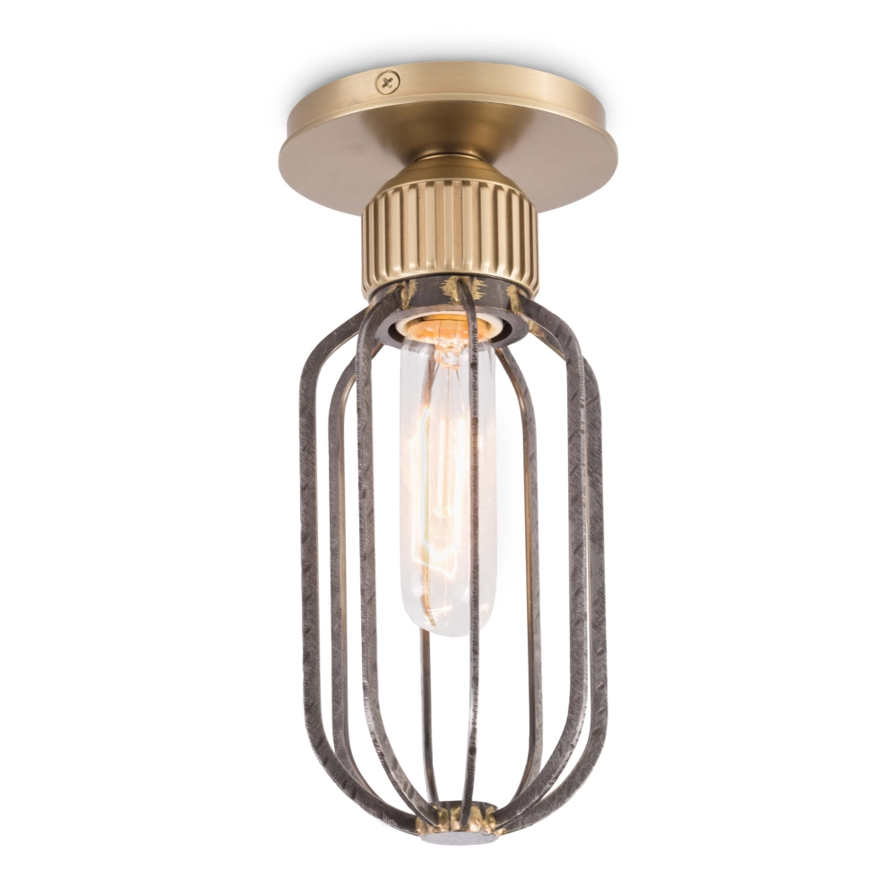 Regina Andrew Lighting Rupert Flush Mount - Worn Steel 16-1120WS