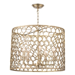 Regina Andrew Lighting Cabana Chandelier - Brass 16-1131