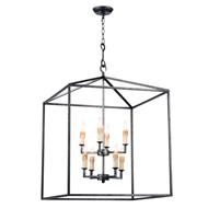 Regina Andrew Lighting Cape Lantern - Blackened Iron