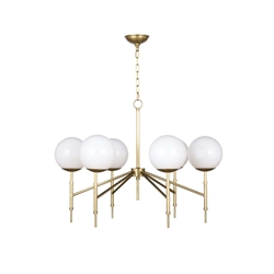 Regina Andrew Lighting Bodie Chandelier - Natural Brass 16-1139NB