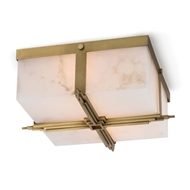 Regina Andrew Lighting Gotham Flush Mount - Natural Brass