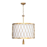 Regina Andrew Lighting Clove Pendant Large - Antique Gold Leaf