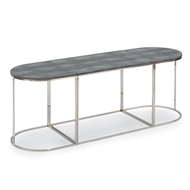 Regina Andrew Home Tryptic Shagreen Table - Charcoal/Polished Nickel
