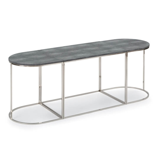 Regina Andrew Home Tryptic Shagreen Table - Charcoal/Polished Nickel 30-1048CHAR