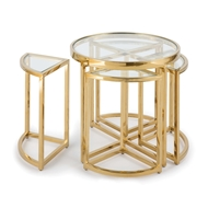 Regina Andrew Home Majestic Side Table Set - Gold