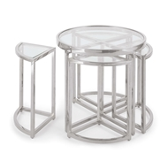 Regina Andrew Home Majestic Side Table Set - Polished Nickel