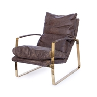 Regina Andrew Home Austin Lounge Chair - Polished Brass 32-1088BRN