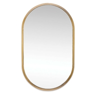 Regina Andrew Home Canal Mirror - Natural Brass 21-1088NB