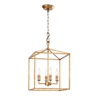 Regina Andrew Lighting Cape Lantern Small - Antique Gold Leaf