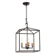 Regina Andrew Lighting Cape Lantern Small - Black Iron