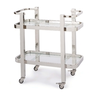 Regina Andrew Home Carter Bar Cart Small - Polished Stainless Steel
