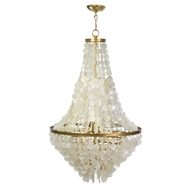Regina Andrew Lighting Cascade Capiz Shell Chandelier 16-1205