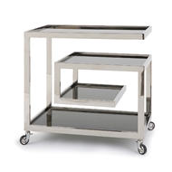 Regina Andrew Home Collins Bar Cart - Polished Nickel