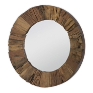 Regina Andrew Home Concave Reclaimed Wood Mirror