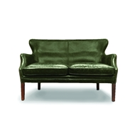 Regina Andrew Home Conrad Leather Settee - Britain Green