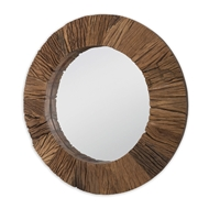 Regina Andrew Home Convex Reclaimed Wood Mirror