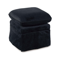 Regina Andrew Home Coste Ottoman - Midnight Velvet