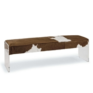 Regina Andrew Home Dominic Bench - Hair On Hide and Acrylic 32-1046