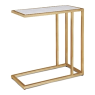 Regina Andrew Home Echelon Sofa Hugger Table - Natural Brass