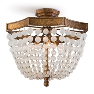 Regina Andrew Lighting Frosted Crystal Bead Semi Flush Mount
