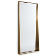 Regina Andrew Home Gunner Mirror - Natural Brass