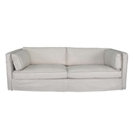 Regina Andrew Home Gypsy Sofa - Cappuccino White Leather