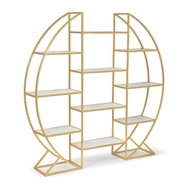 Regina Andrew Home Hoop Etagere - Natural Brass 31-1010NB