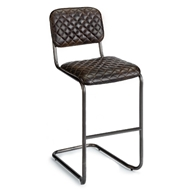 Regina Andrew Home Jaxon Bar Stool - Set of 2 - Java Black Leather
