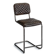 Regina Andrew Home Jaxon Counter Stool - Set of 2 - Java Black Leather