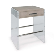 Regina Andrew Home Lucite End Table - Ivory Shagreen