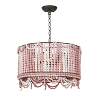 Regina Andrew Lighting Malibu Drum Pendant - Weathered Pink
