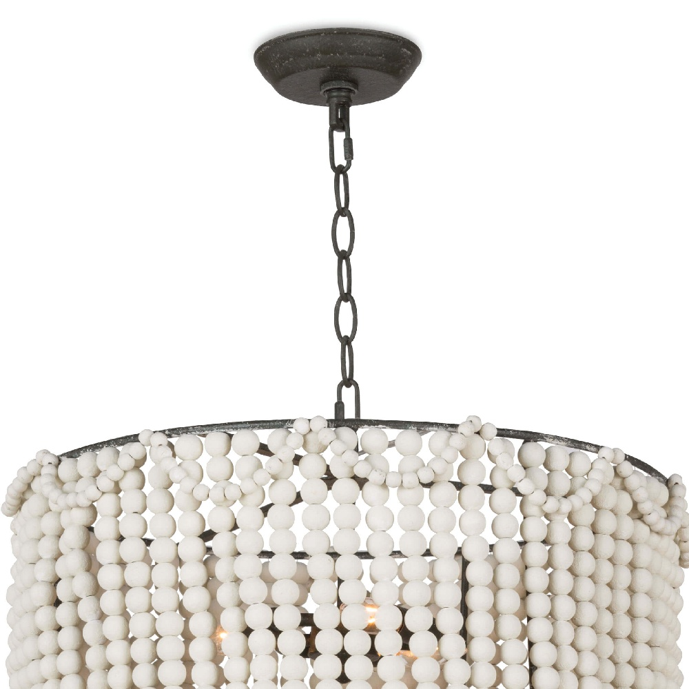 Regina Andrew Lighting Malibu Drum Pendant - Weathered White 16-1147WT