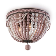 Regina Andrew Lighting Malibu Flush Mount - Weathered Pink 16-1163PNK