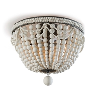 Regina Andrew Lighting Malibu Flush Mount - Weathered White