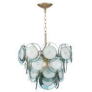 Regina Andrew Lighting Mini Diva Chandelier - Aqua 16-1122AQ