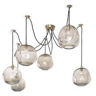 Regina Andrew Lighting Molten Spider Large With Smoke Glass - Natural Brass 16-1112NB