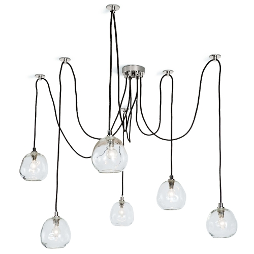 Regina Andrew Lighting Molten Spider Small With Clear Glass - Polished Nickel 16-1111PN