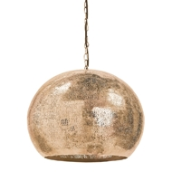 Regina Andrew Lighting Pierced Metal Sphere Pendant - Natural Brass