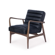 Regina Andrew Home Piper Chair - Antique Black Leather