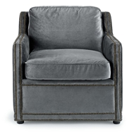 Regina Andrew Home Posh Chair - Charcoal