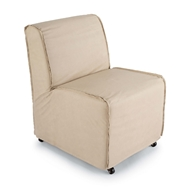 Regina Andrew Home Rolling Slipper Chair - Cappuccino 32-1011WT
