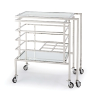 Regina Andrew Home Sidecar Bar Cart - Polished Nickel