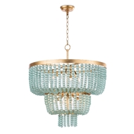 Regina Andrew Lighting Summer Glass Bead Chandelier Large 16-1180