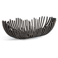 Regina Andrew Home Webbed Bowl Oblong - Blackened Iron
