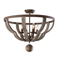 Regina Andrew Lighting Wooden Quatrefoil Semi Flush