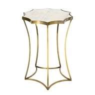 Aidan Gray Home Astre Side Table in Antique Brass