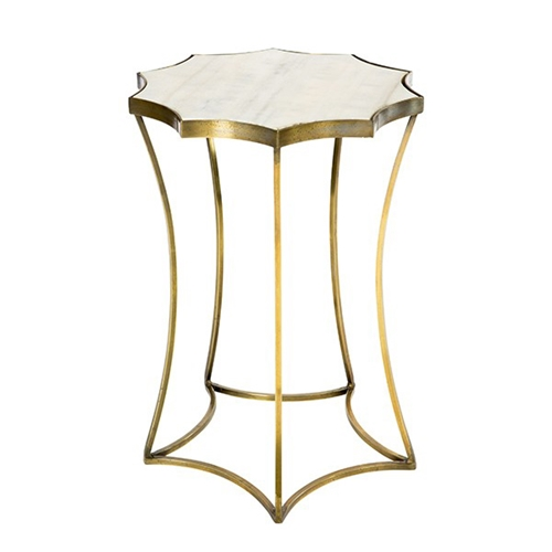 Aidan Gray Home Astre Side Table In Antique Brass F AB Free - Brushed brass side table