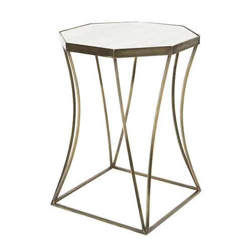Aidan Gray Home Cuadrado Side Table Antique Brass F AB Free - Brushed brass side table