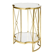 Aidan Gray Home Tall Marlene Side Table Two Tier
